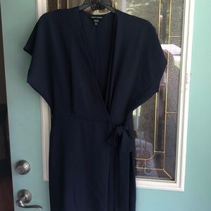 Maggy London Navy wrap dress